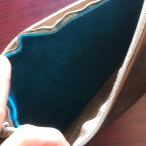 Bags - Reversible acid wash cowhide fringe clutch